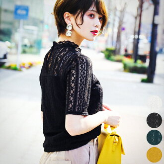 Race tops high neck short sleeves Lady's race blouse short length embroidery see-through ethnic race elegant floral design blouse blouse invite party raschel race blouse rayon black and white green red white black green yellow