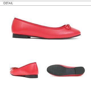 fashionletterリボンラウンドバレエパンプスレディースぺたんこフラットパンプスシューズ靴ローヒールラウンドトゥ痛くない歩きやすい走れるパンプス軽量カジュアルママ春夏ブラック黒ネイビー紺キャメルレッド赤シルバー