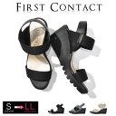 FIRSTCONTACT(ファーストコンタクト) コンフォートシューズ ヒール レディース 立ち仕事靴 オフィス 室内履き コンフ…