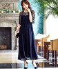 It is a long shot dress race sleeve for 40 generations for black navy dark blue dress invite 30 generations that there is wedding ceremony dress dress party dress total race sleeve long length mi-mollet length party four circle sleeve knee second party g