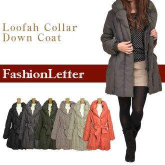 アウターヘチマカラー down coat batting coat down jacket batting jacket outerwear ladies women % sale 50% sale ladies ladies 2013 aw 2013 fall winter.