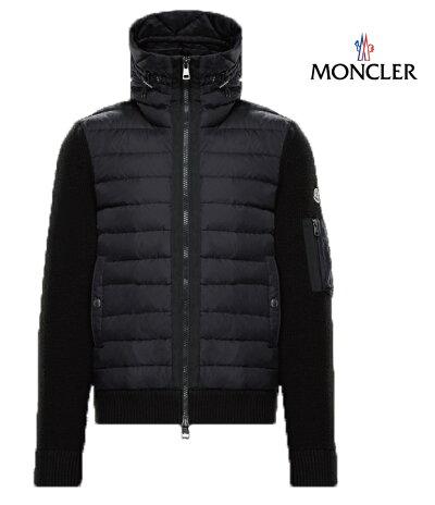 MONCLERモンクレールスウェットパーカーカーディガンメンズブラック2018-2019年秋冬