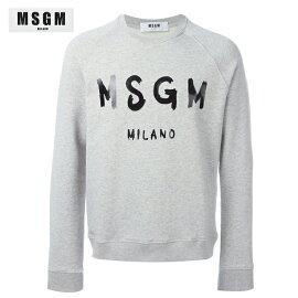 MSGMエムエスジーエム2018年春夏レディースロゴスウェットシャツグレー