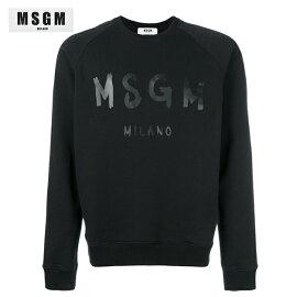 MSGMエムエスジーエム2018年春夏レディースロゴスウェットシャツブラック