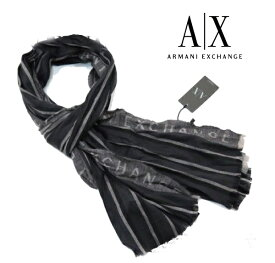 A|X Armani Exchange アルマーニエクスチェンジ ストール 大判 ブラック おしゃれ