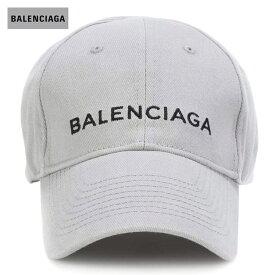 BALENCIAGA バレンシアガ 2018年春夏 Embroidered cotton baseball cap Zinc/Black