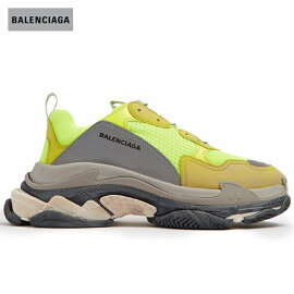 BALENCIAGAバレンシアガ2018年春夏TripleSlow-toptrainersathleticshoesNeon-yellow