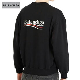 BALENCIAGA バレンシアガ 2018年春夏 Logo-print cotton-blend sweatshirt Featuring Demna Gvasalia ブラック