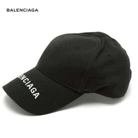BALENCIAGA バレンシアガ 2018年春夏 Logo-embroidered cotton cap ブラック