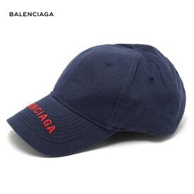 BALENCIAGA バレンシアガ 2018年春夏 Logo-embroidered cotton cap ネイビー