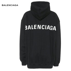 BALENCIAGA バレンシアガ Printed cotton hoodie パーカー ブラック トップス 2018-2019年秋冬