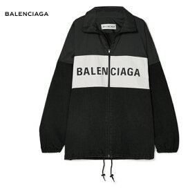 BALENCIAGA バレンシアガ Oversized printed denim and shell jacket パーカー ブラック トップス 2018-2019年秋冬
