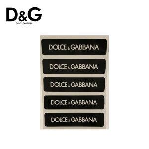 【非売品・Set of 5】DOLCE&GABBANA Logo Stickers Black/White ドルチェ&ガッバーナ ロゴ シール ステッカー ブラック/ホワイト 5枚セット