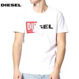 DIESELディーゼル2018年春夏T-DIEGO-QATシャツ・カットソーホワイト00S02X0091B