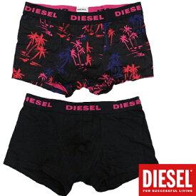 DIESEL ディーゼル 2016年春夏新作 メンズ ボクサーパンツ ボタニカル柄×無地 2枚パック UMBX-SHAWN 下着 アンダーウェア