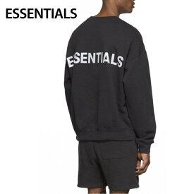 ESSENTIALS Reflective Pullover Sweat-shirt Mens Tops Black 2020SS エッセンシャルズ リフレクティブ プルオーバー スウェットシャツ メンズ トップス ブラック 2020年春夏新作