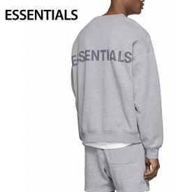 ESSENTIALS Reflective Pullover Sweat-shirt Mens Tops Heather Gray 2020SS エッセンシャルズ リフレクティブ プルオーバー スウェットシャツ メンズ トップス ヘザーグレー 2020年春夏新作