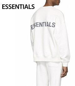 ESSENTIALS Reflective Pullover Sweat-shirt Mens Tops White 2020SS エッセンシャルズ リフレクティブ プルオーバー スウェットシャツ メンズ トップス ホワイト 2020年春夏新作