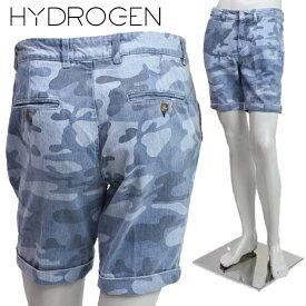 [HYDROGEN] ハイドロゲン 2015年春夏新作 ハイドロゲン ショート デニム ブルーカモフラ 160511 400