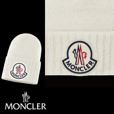 MONCLERモンクレールBONNET帽子ニットアイボリー2019-2020年秋冬