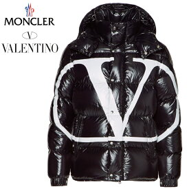 MONCLER モンクレール VALENTINO ヴァレンティノ ヴァレンチノ SV3CN00A5AG 0NI コラボレーション Vロゴ ダウンジャケット メンズ ブラック 2019-2020年秋冬 2019AW