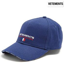 fe15a628c7c53b Vetements ヴェトモン 2018年春夏新作 Logo-embroidered canvas cap ブルー 帽子 キャップ