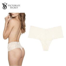 VICTORIA'S SECRET Mid-rise Thong Panty White Ladys Underwear 2020SS ビクトリアシークレット ミッドライズ Tバックパンティ ホワイト レディース アンダーウェア 下着 2020年春夏
