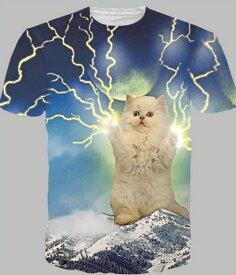 猫 猫柄 Tシャツ おもしろ レディース 半袖 かわいい ユニーク 白猫 半袖 ねこ ネコ グッズ 雑貨