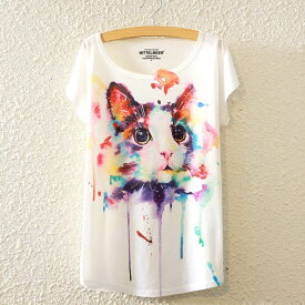 猫 Tシャツ 猫柄 レディース イラスト かわいい 半袖 丸首 猫グッズ 猫雑貨 ファッション プリント シャツ 雑貨 グッズ ねこ ネコ プレゼント