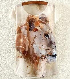 【送料無料】動物 動物柄 Tシャツ かわいい レディース ユニーク アニマル プリント 半袖 グッズ 雑貨 プレゼント