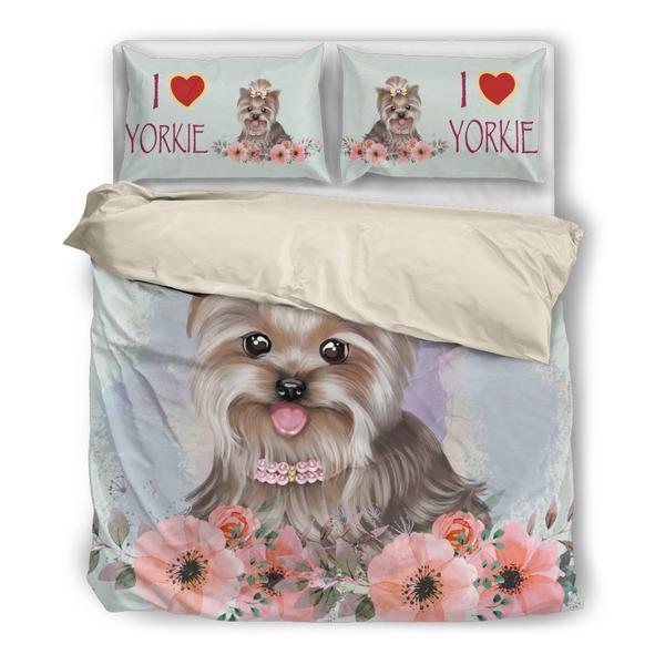 犬 犬柄 ヨーキー ヨークシャテリア かわいい 布団 カバー 枕 クッション ホーム雑貨 いぬ イヌ 雑貨 グッズ