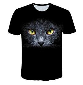 【送料無料】猫 猫柄 黒猫 Tシャツ レディース かわいい トップス ねこ ネコ ファッション 雑貨 グッズ