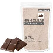 HIGHCLEARハイクリアーソイプロテイン100750g(約30回分)リッチチョコ味HICSOY001