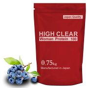 HIGHCLEARハイクリアーWomanプロテイン爽やかブルーベリー味750g(約30回分)ウーマン女性レディース