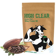 HIGHCLEARハイクリアーWPCホエイグラスフェッドプロテイン1kg(約40回分)しっかりココア味ステビア