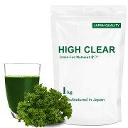 HIGHCLEARハイクリアーWPCホエイグラスフェッド乳酸菌100億個プロテイン1kg(約40回分)青汁味