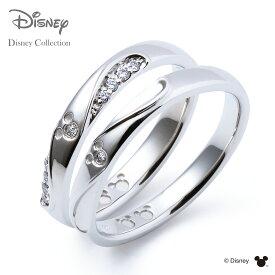【刻印無料_14文字】【ディズニーコレクション】 ディズニー / プラチナ マリッジ リング 結婚指輪 / 隠れミッキーマウス / ペアリング THE KISS ザキッス リング・指輪 DI-7061104531-7061104541 セット シンプル 男性 女性 2個セット ザキス 【送料無料】