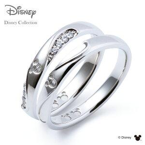 【刻印可_14文字】【ディズニーコレクション】 ディズニー / プラチナ マリッジ リング 結婚指輪 / 隠れミッキーマウス / ペアリング THE KISS ザキッス リング・指輪 DI-7061104531-7061104541 セット