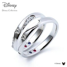 【刻印無料_14文字】【ディズニーコレクション】 ディズニー / プラチナ マリッジ リング 結婚指輪 / 隠れミッキーマウス / ペアリング THE KISS ザキッス リング・指輪 誕生石 DI-7061104532-7061104542 セット シンプル 男性 女性 2個セット ザキス 【送料無料】
