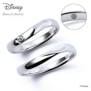 【刻印可_10文字】【ディズニーコレクション】 ディズニー / プラチナ マリッジ リング 結婚指輪 / ディズニープリンセス ベル / ペアリング THE KISS ザキッス リング・指輪 DI-7061104571-7061104581