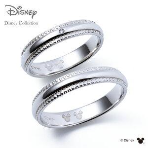 【刻印可_14文字】【ディズニーコレクション】 ディズニー / プラチナ マリッジ リング 結婚指輪 / 隠れミッキーマウス / ペアリング THE KISS ザキッス リング・指輪 DI-7061108011-7061108021 セット
