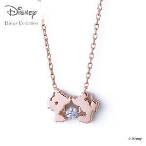 【あす楽対応】【ディズニーコレクション】 ディズニー / ネックレス / ミッキーマウス & ミニーマウス / THE KISS ネックレス・ペンダント シルバー ( レディース ) DI-SN1404CB 【送料無料】