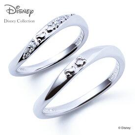 【送料無料】【あす楽対応】【ディズニーコレクション】 ディズニーペアリング ミッキーマウス & ミニーマウス THE KISS ペアリング シルバー リング・指輪 DI-SR1831CB-1832 セット シンプル ザキス