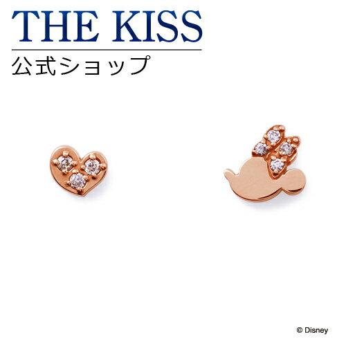 【あす楽対応】【ディズニーコレクション】 ディズニー / ピアス / ミニーマウス / THE KISS ピアス K10 ピンクゴールド ダイヤモンド (レディース) DI-PPE2700DM ザキス 【送料無料】【Disneyzone】