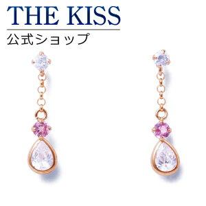 THE KISS 公式ショップ K10 ピンクゴールド ピアス ピンクトルマリン キュービック ピアス レディースジュエリー・アクセサリー ジュエリーブランド THEKISS レディースピアス 記念日 プレゼント