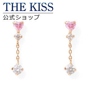 THE KISS 公式ショップ K10 ピンクゴールド ピアス キュービックジルコニア ピアス レディースジュエリー・アクセサリー ジュエリーブランド THEKISS レディースピアス 記念日 プレゼント AL-27CB