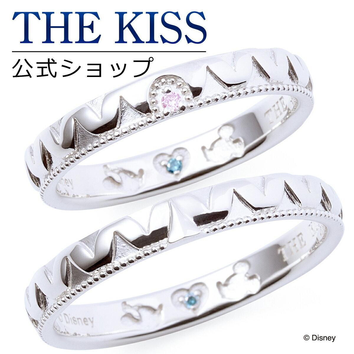 【あす楽対応】【ディズニーコレクション】 ディズニー / ペアリング / ミッキーマウス & ミニーマウス / THE KISS リング・指輪 シルバー DI-SR1829PDM-1830BDM セット シンプル ザキス 【送料無料】