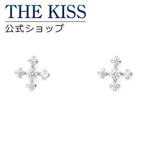 THE KISS 公式ショップ K10 ホワイトゴールド ピアス キュービックジルコニア ピアス レディースジュエリー・アクセサリー ジュエリーブランド THEKISS レディースピアス 記念日 プレゼント IS0938