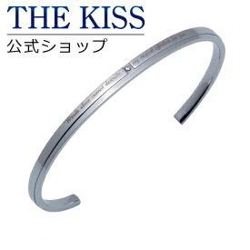 【あす楽対応】 THE KISS 公式サイト ステンレス ペアバングル (メンズ 単品) キュービック サージカルステンレス 316L ペアアクセサリー ジュエリーブランド THEKISS ペア バングル TBR3027DM-M ザキス