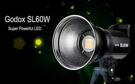 【PSEマーク&Godox正規代理】GODOX SL60W定常光ライト 60W ledビデオ撮影照明 SL60 W スタジオ撮影 ボーエンズマウント5600±300K ビデオ 写真撮影など